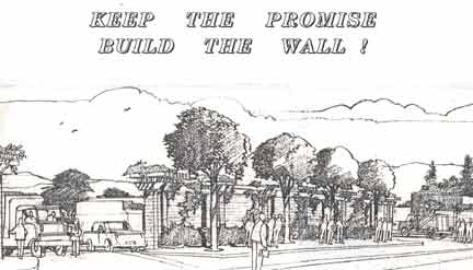 drawing of corporation yard sound wall 1989