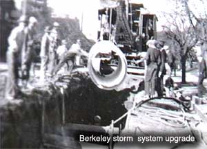 sewer / storm installation in Berkeley