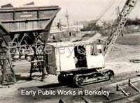 Berkeley Public Works rock and gravel yard