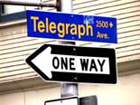 Telegraph Avenue street sign Berkeley